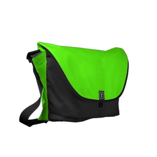High Visibility Neon Green Messenger Bag