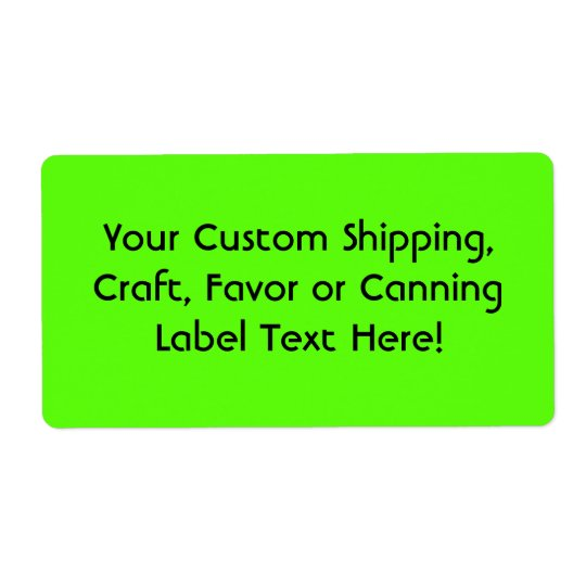 High Visibility Neon Green Shipping Label