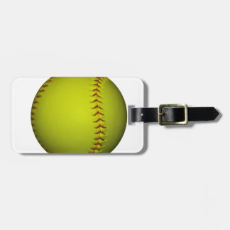 High Visibility Yellow Softball Luggage Tag