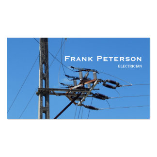 high-voltage electrician pack of standard business cards