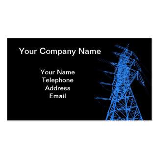 High Voltage Powermast in Blue Business Card