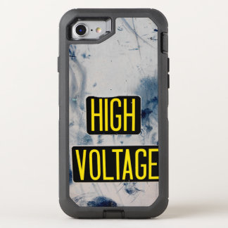 High Voltage Warning Sign - FUNNY OtterBox Defender iPhone 7 Case