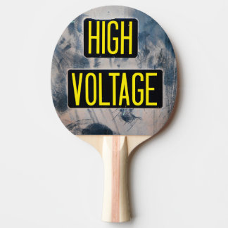 High Voltage Warning Sign - FUNNY Ping Pong Paddle