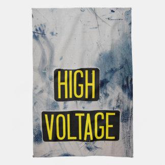 High Voltage Warning Sign - FUNNY Tea Towel