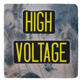 High Voltage Warning Sign - FUNNY Trivet