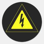 High Voltage Warning Sign Round Sticker