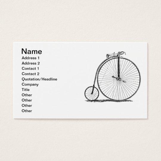High Wheeler Victorian Penny Farthing Cycle Biking Business