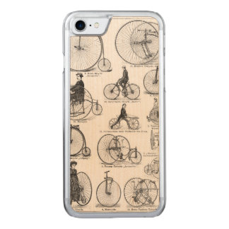 High Wheeler Victorian Penny Farthing Cycle Biking Carved iPhone 8/7 Case