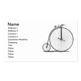 High Wheeler Victorian Penny Farthing Cycle Biking Pack Of Standard Business Cards