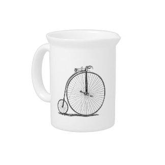 High Wheeler Victorian Penny Farthing Cycle Biking Pitchers