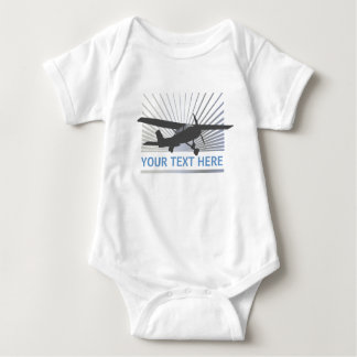 High Wing Aircraft Baby Bodysuit