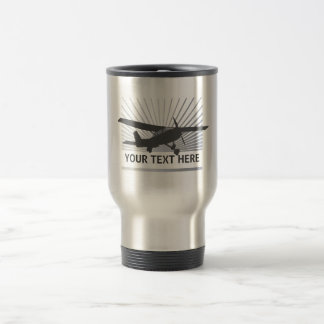 High Wing Aircraft 15 Oz Stainless Steel Travel Mug