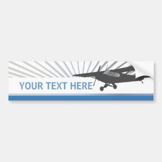 High Wing Taildragger Aircraft Bumper Sticker