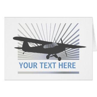 High Wing Taildragger Aircraft Greeting Card