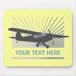 High Wing Taildragger Aircraft Mouse Pads