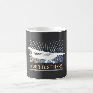 High Wing Taildragger Aircraft Basic White Mug