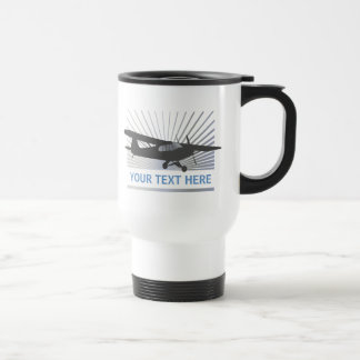 High Wing Taildragger Aircraft Stainless Steel Travel Mug