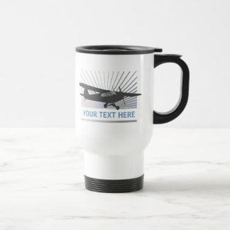 High Wing Taildragger Aircraft Travel Mug