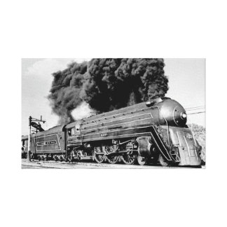 Highball it!  Art Deco Locomotive Canvas Print