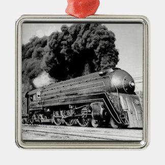 Highball it! square metal christmas ornament