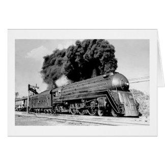 Highball it! Vintage 21st Century Railroad Engine Greeting Card