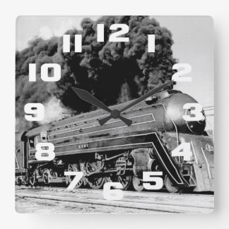 Highball It Vintage Speeding Locomotive Wall Clock