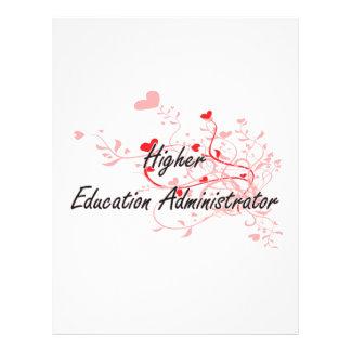 Higher Education Administrator Artistic Job Design 21.5 Cm X 28 Cm Flyer