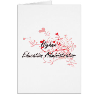 Higher Education Administrator Artistic Job Design Greeting Card