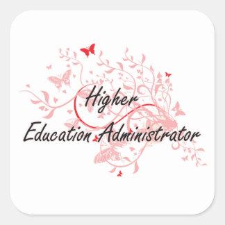 Higher Education Administrator Artistic Job Design Square Sticker