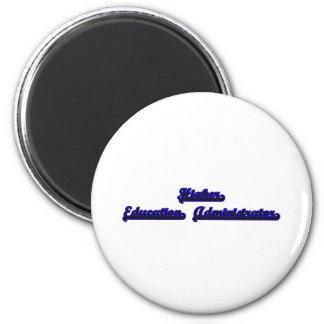 Higher Education Administrator Classic Job Design 6 Cm Round Magnet