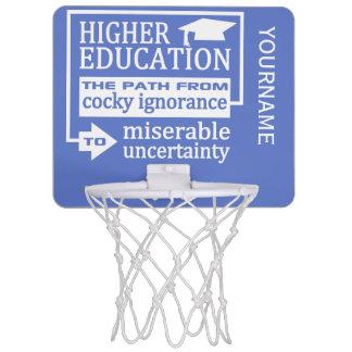 Higher Education humor custom color mini hoop