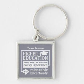 Higher Education humor custom key chain