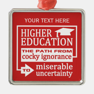 Higher Education humor text & color ornament