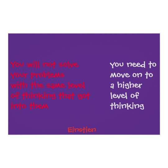 higher thinking poster