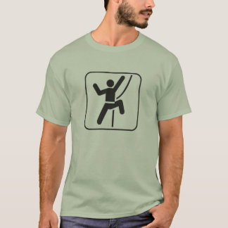higher you climb the greater your potential energy T-Shirt