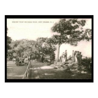 Highest Point on Eagle Rock, W. Orange, NJ Vintage Postcard