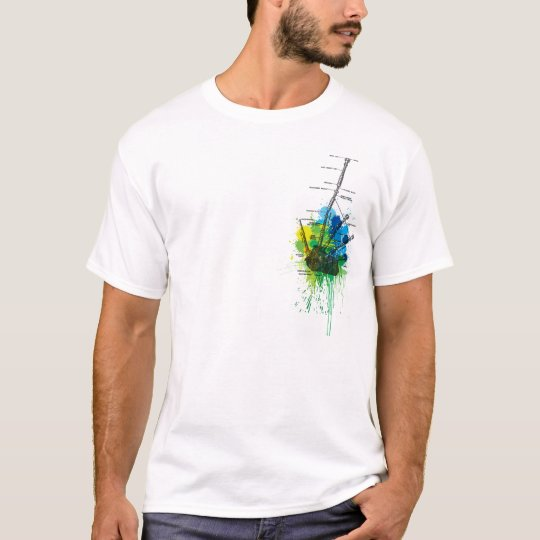 Highland bagpipe - fresh green colours T-Shirt