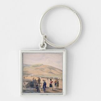 Highland Brigade Camp, plate from 'The Seat of War Silver-Colored Square Key Ring