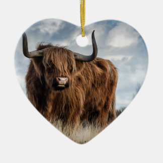 Highland Bull Christmas Ornament