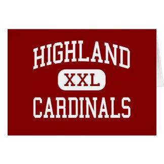 Highland - Cardinals - High - Highland Wisconsin Card