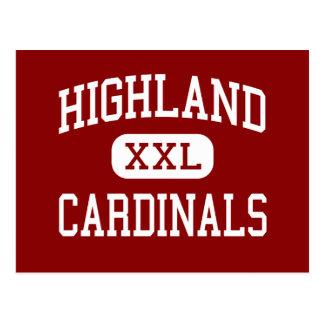 Highland - Cardinals - High - Highland Wisconsin Postcard