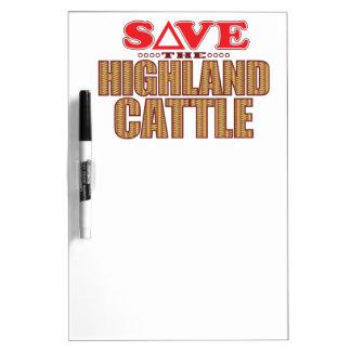 Highland Cattle Save Dry Erase Board