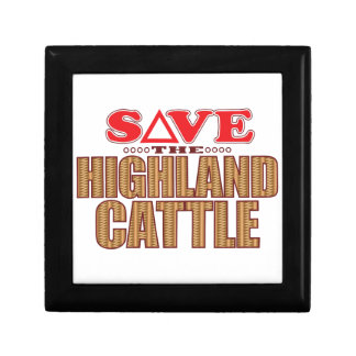 Highland Cattle Save Gift Box