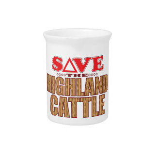 Highland Cattle Save Pitcher