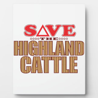 Highland Cattle Save Plaque
