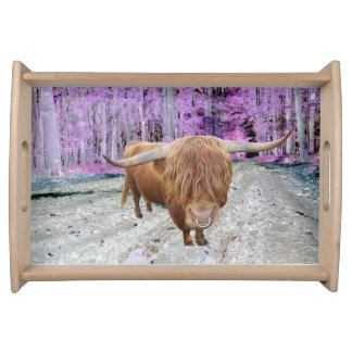Highland cattle serving tray
