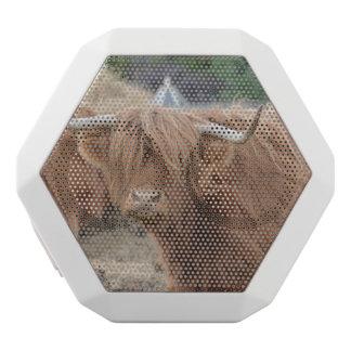 Highland Cow White Boombot Rex Bluetooth Speaker