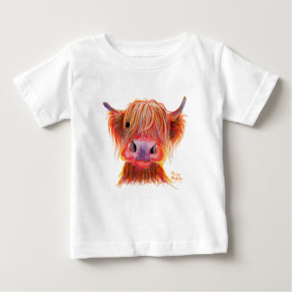 Highland Cow 'CHILLI CHOPS' Baby Fine T-Shirt Top