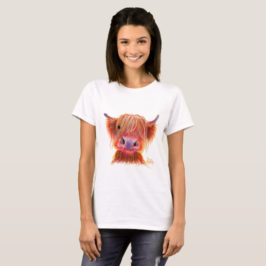 Highland Cow ' CHILLI CHOPS ' Womens T-Shirt