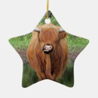 Highland cow christmas ornaments